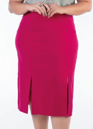 Saia Lápis Plus Size (Pink)