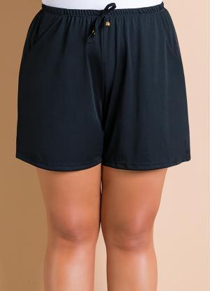 Short com Amarração (Preto) Plus Size