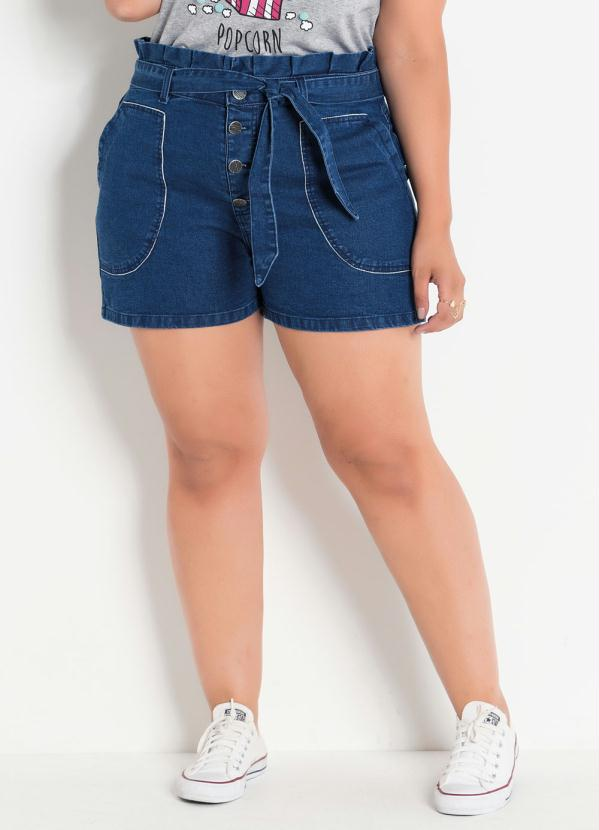 Short (Jeans) Clochard Plus Size com Amarração