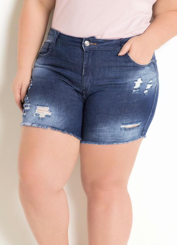 Short Plus Size (Jeans) Sawary Destroyed