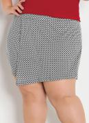SHORT SAIA (XADREZ) PLUS SIZE