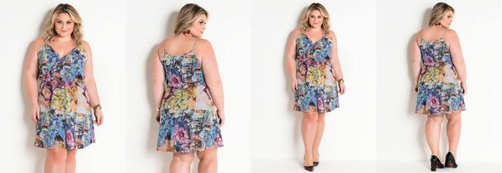 777e5ff61b Score  0.0 Vestido Floral Plus Size com Alças e Transpasse
