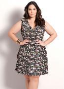 Vestido Floral Plus Size Transpassado