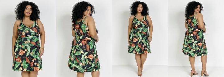 Vestido Floral Plus Size