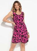 Vestido Quintess Floral Pink com Bolsos