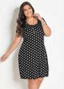 Vestido Soltinho Poá Plus Size Marguerite