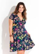 VESTIDO TRANSPASSADO (FLORAL) PLUS SIZE QUINTESS