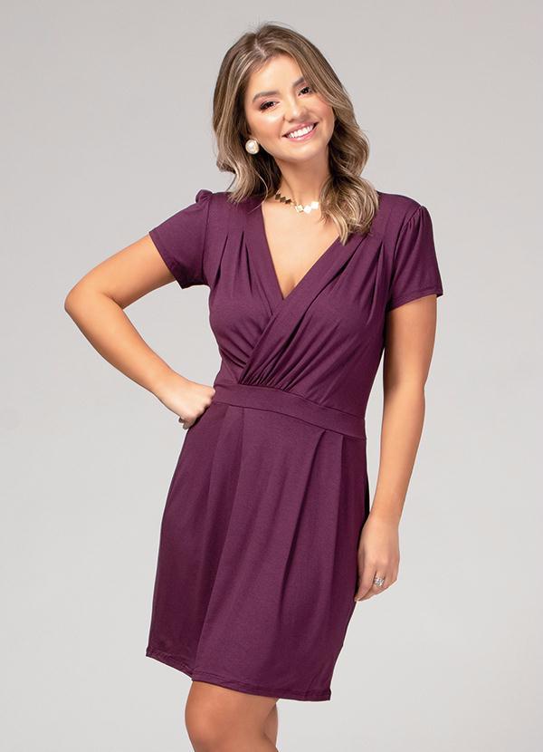 Vestido Transpassado (Roxo) Plus Size Quintess