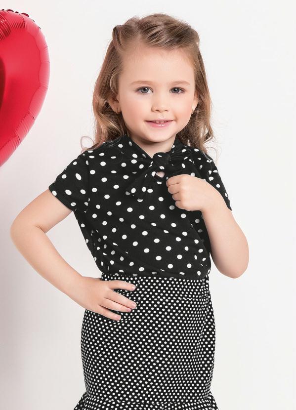 Blusa Infantil (Poá) Moda Evangélica