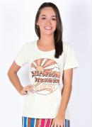 Blusa Juvenil com Estampa California Off White