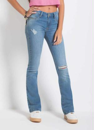 Calça Sawary Boot Cut (Jeans) Destroyed Sawary