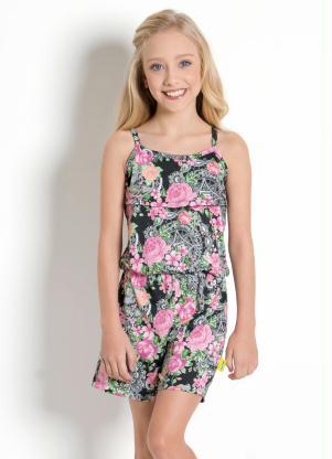 Macaquinho Infantil (Arabesco e Floral) de Alças