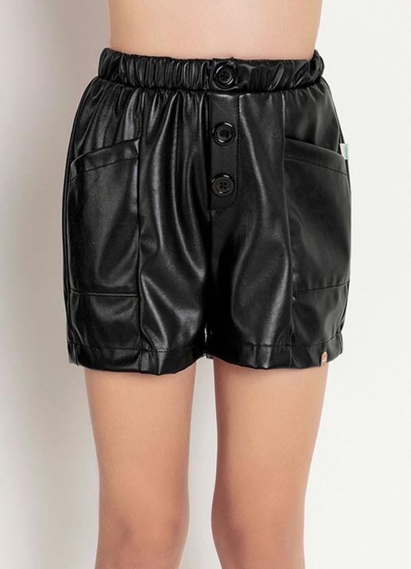 Shorts Infantil (Preto) com Bolsos Funcionais