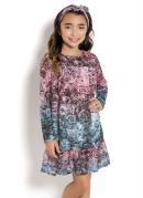 Vestido Infantil Floral Kollor Magic