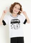 Camiseta Infantil Branca com Estampa