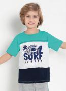 Camiseta Infantil Tricolor com Estampa