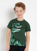 Camiseta Infantil Verde Estampada Rovitex