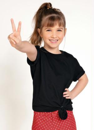 Camiseta Unissex Infantil (Preta)