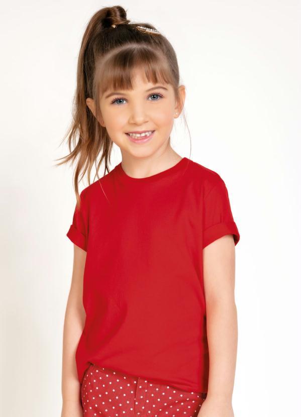 Camiseta Unissex Infantil (Vermelha)