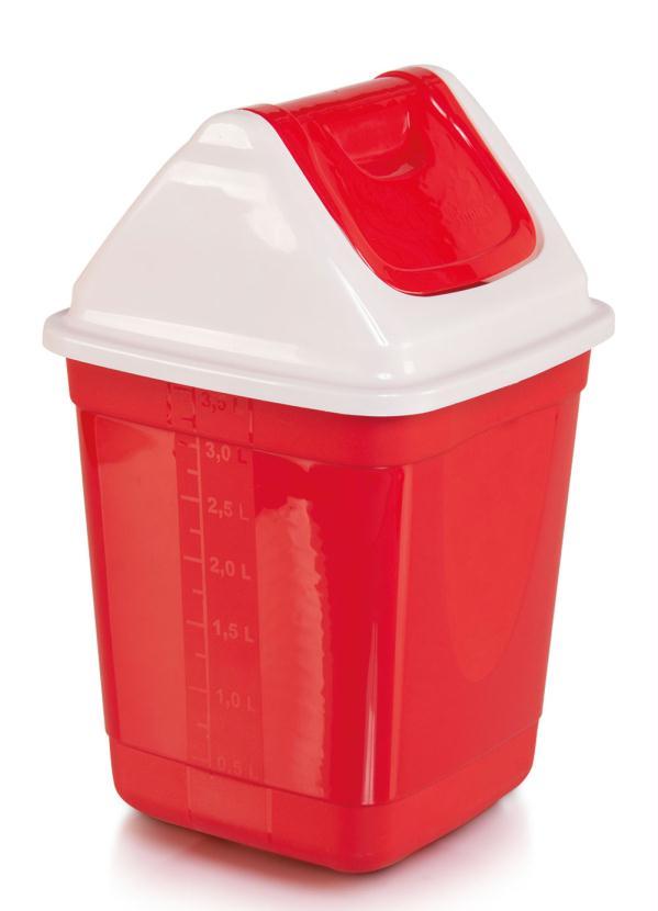 Lixeira com Basculante (Vermelha)
