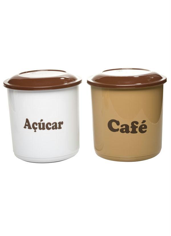 Kit com 2 Potes para Café e Açúcar